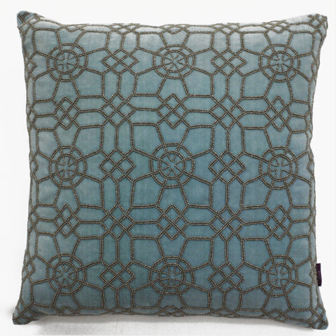 Jolfa Grid Accent Pillow - Sabira Collection