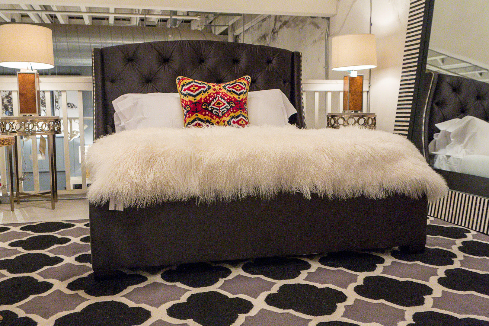 natural tufted furniture oliva tone bed of itm in rustic queen america l