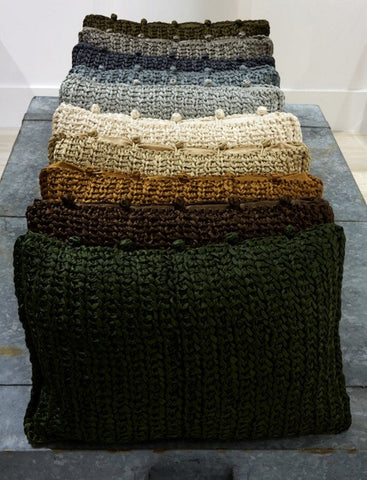Knitted Silk Pillow - Ann Gish