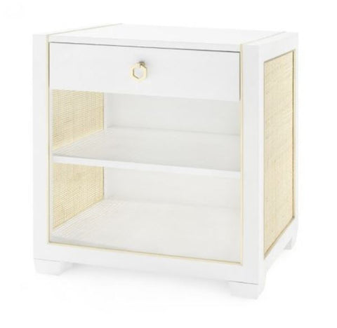 Karen One-Drawer Side Table, White - Bungalow 5