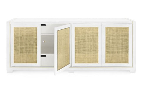 Karen 4-Door Cabinet, White - Bungalow 5