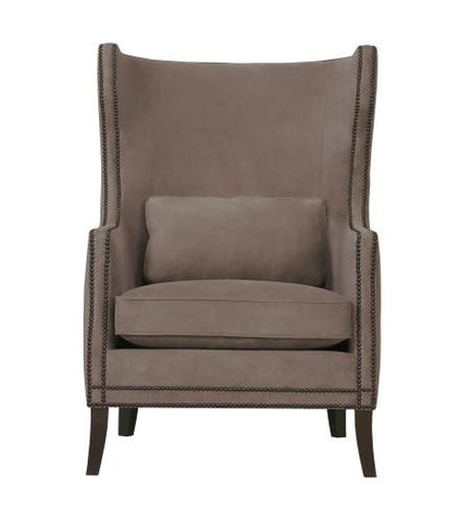 Kingston Leather Wing Chair - Bernhardt Interiors
