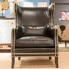 Kingston Black Leather Chair - Bernhardt Furniture