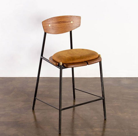 Kink Leather Bar Stool - District Eight