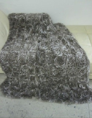 Knit Rex Sculptured Throw - Adrienne Landau