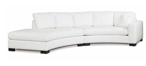 Kylie Curved Sectional, Wildwood Natural - Precedent