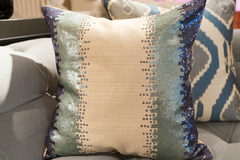 Kyoto Beaded Ombre Pillow - Sabira Collection