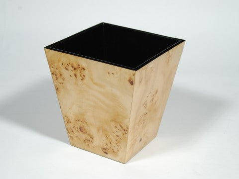 Mappa Burl Inlay Waste Basket - Pacific Connections