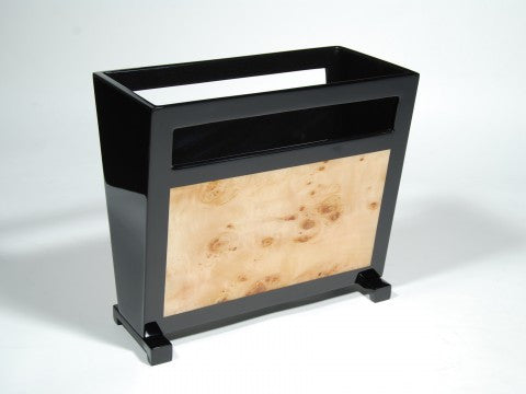 Mappa Burl Inlay Magazine Rack - Pacific Connections