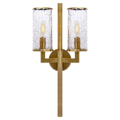 Liaison Double Sconce, Antique-Burnished Brass - Visual Comfort