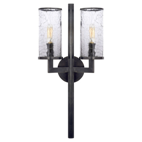 Liaison Double Sconce, Bronze - Visual Comfort