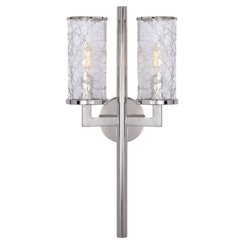 Liaison Double Sconce, Polished Nickel - Visual Comfort