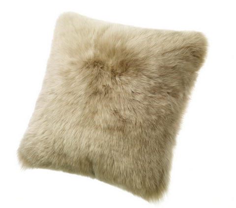 "Lamb Wool Pillow 20"" x 20"", Taupe - Auskin"