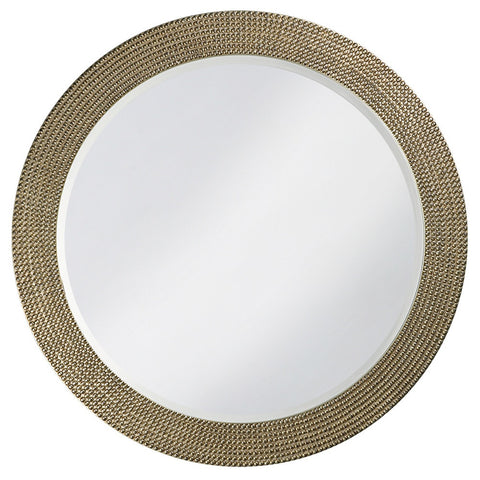 Lancelot Round Mirror - Nickel - Howard Elliott