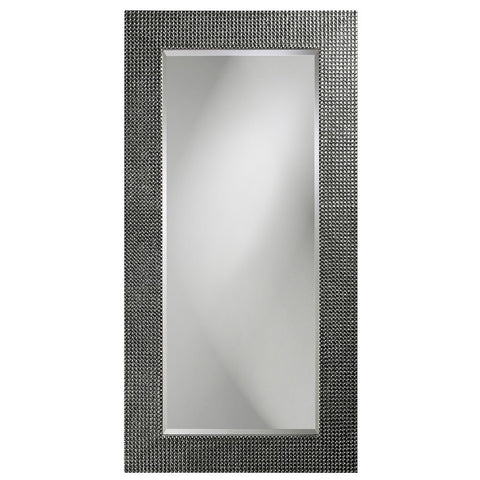 Lancelot Rectangular Mirror - Charcoal Lacquer- Howard Elliott