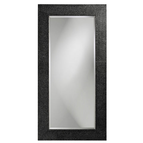 Lancelot Rectangular Mirror - Glossy Black - Howard Elliott