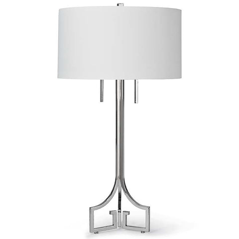 Le Chic Polished Nickel Lamp - Regina Andrew