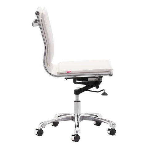 Lider Plus Armless Chair White - Zuo Modern
