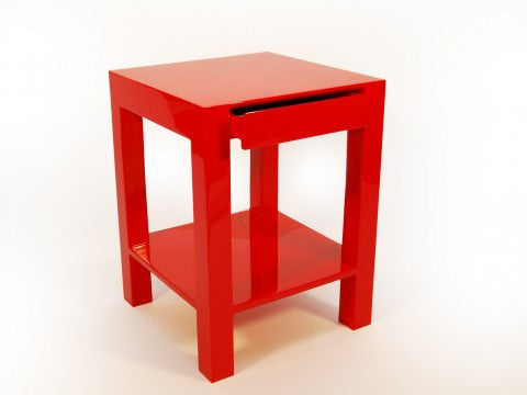 Lipo Side Table, Red - Pacific Connections