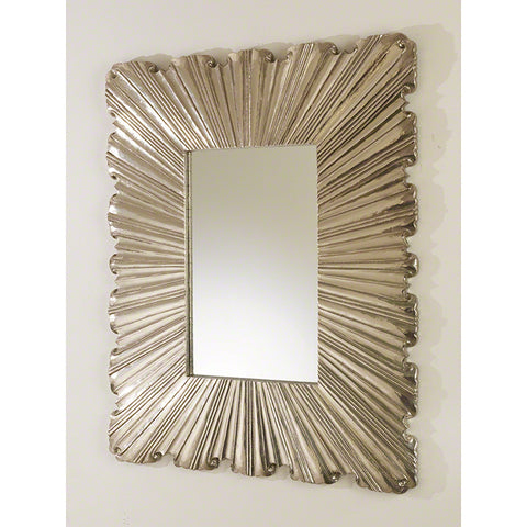 Linen Fold Mirror, Silver - Global Views