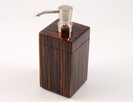 Lotion Pump Macassar Ebony - Pacific Connections