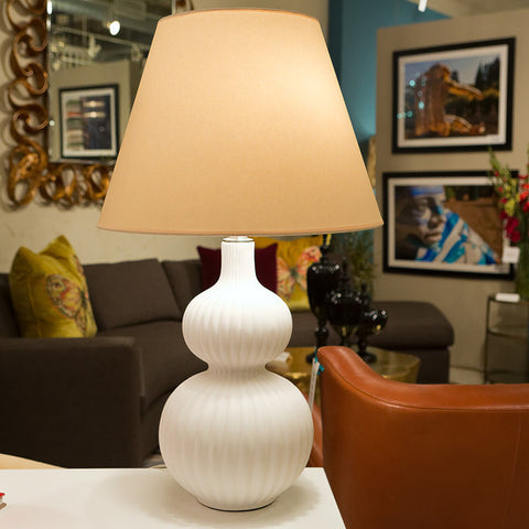 Lucille White Table Lamp - Visual Comfort