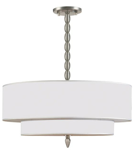 Luxo 5 Light Satin Nickel Chandelier - Crystorama