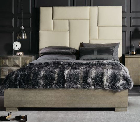 Mosaic Upholstered Panel King Bed - Bernhardt Furniture