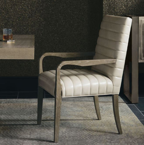 Mosaic Leather Arm Chair - Bernhardt Furniture