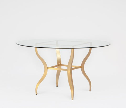 Lawrence Dining Table, Glass Top - Made Goods