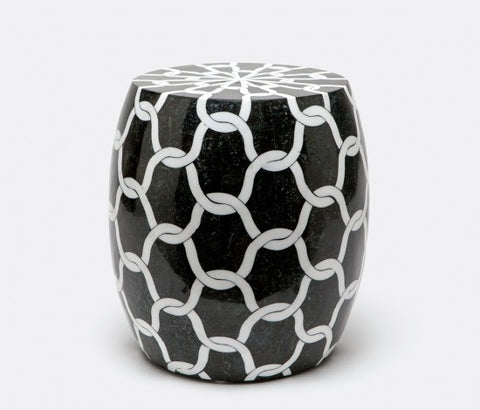 Tobyn Black and White Marble Stool - Made Goods