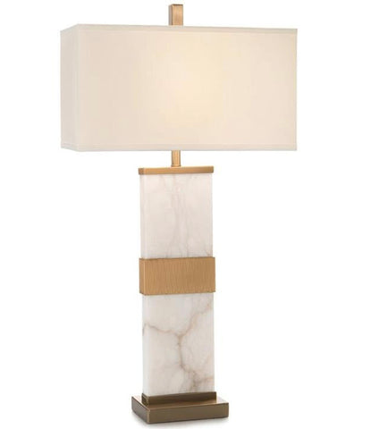 Alabaster Column Table Lamp - John-Richard