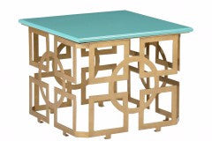 Marbrough Table Turquoise - Chelsea House
