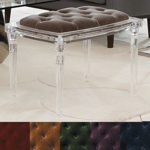 Marilyn Acrylic 4 Leg Bench - Global Views