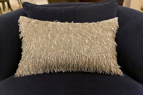 Matchstick Pillow In Silver - Aviva Stanoff Design