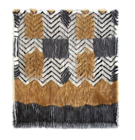 Melange Fox Limited Edition Throw - Fabulous Furs