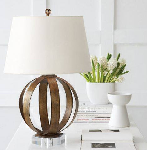 Metal Banded Table Lamp - Visual Comfort