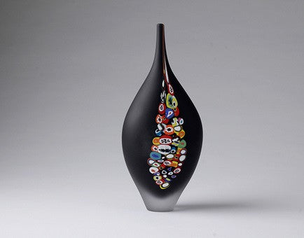 Millie Vase Black - Teign Valley Glass