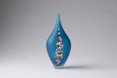 Millie Vase Blue Copper - Teign Valley Glass