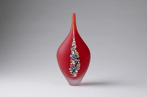 Millie Vase Cherry - Teign Valley Glass