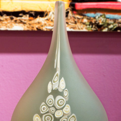 Millie Vase Pebble Gray - Teign Valley Glass