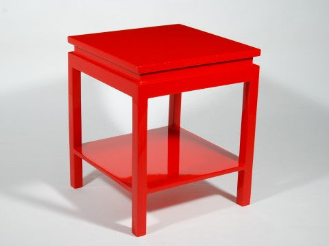 Ming Style Side Table, Red - Pacific Connections