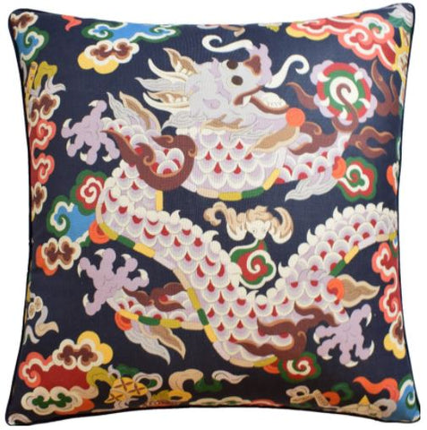 Ming Dragon Print Pillow - Ryan Studio