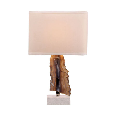 Minoa 1 Light Table Lamp, Natural Agate And Marble - Dimond Home