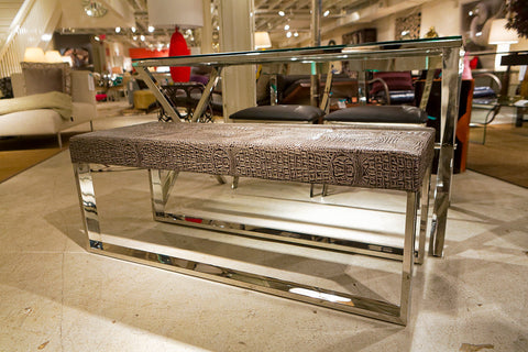 Mirage Crocodile Bench - Sunpan Modern Home