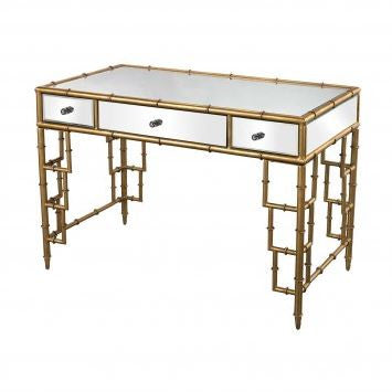 Mirror Top Bamboo Desk - Dimond Home
