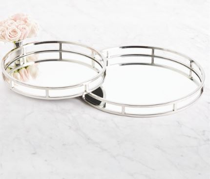 Round Mirrored Tray - Two's Company