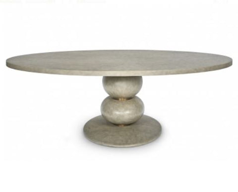Misty Oval Dining Table - Mr. Brown London