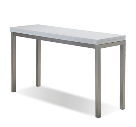 Alure White Dining Table/Sofa Table - Mobital