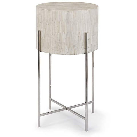 Modern Drum Table Polished Nickel - Regina Andrew